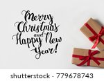 two gifts on a white background.... | Shutterstock . vector #779678743