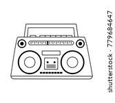 old radio stereo | Shutterstock .eps vector #779684647