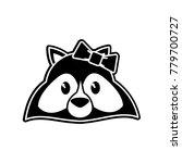 raccoon cartoon design | Shutterstock .eps vector #779700727