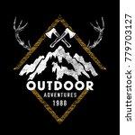 outdoor logo design | Shutterstock .eps vector #779703127