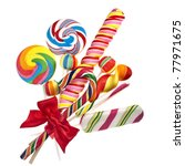 bouquet of colorful lollipop... | Shutterstock . vector #77971675