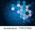 hi tech digital technology...   Shutterstock .eps vector #779717503