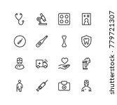 dental icon set. collection of... | Shutterstock .eps vector #779721307