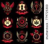 vector classy heraldic coat of...   Shutterstock .eps vector #779725303