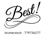 best sign. vector illustration. ... | Shutterstock .eps vector #779736277