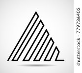 abstract triangle of line.... | Shutterstock .eps vector #779736403
