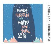 happy new year and merry... | Shutterstock .eps vector #779748877