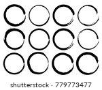 vector set of grunge circle... | Shutterstock .eps vector #779773477