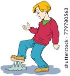 cartoon boy that has just... | Shutterstock .eps vector #779780563