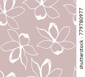 floral seamless pattern. pastel ... | Shutterstock .eps vector #779780977
