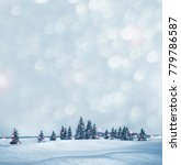 frozen winter forest with snow...   Shutterstock . vector #779786587