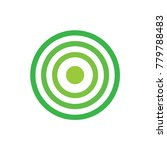 green target icon  vector... | Shutterstock .eps vector #779788483