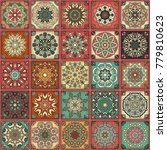 colorful vintage seamless... | Shutterstock .eps vector #779810623