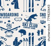 ski and snowboard club seamless ... | Shutterstock .eps vector #779820643