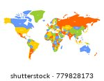 colorful map of world.... | Shutterstock .eps vector #779828173