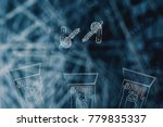 internet and data security...   Shutterstock . vector #779835337