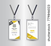 creative simple yellow id card... | Shutterstock .eps vector #779846023
