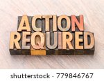 action required   word abstract ... | Shutterstock . vector #779846767