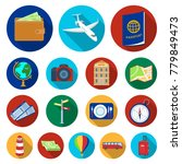 rest and travel flat icons in... | Shutterstock .eps vector #779849473