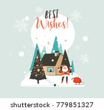 hand drawn vector abstract... | Shutterstock .eps vector #779851327