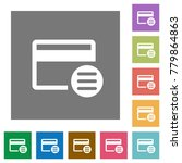 credit card options flat icons... | Shutterstock .eps vector #779864863