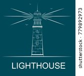 lighthouse concept with space... | Shutterstock .eps vector #779892973