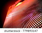 abstract led panel art  | Shutterstock . vector #779893147