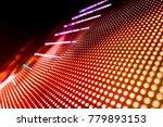 abstract led panel art  | Shutterstock . vector #779893153