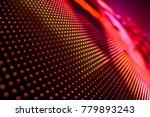 abstract led panel art    Shutterstock . vector #779893243