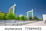 modern buildings with trees in... | Shutterstock . vector #779899453