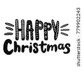 happy christmas vector text... | Shutterstock .eps vector #779902243