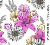 vector seamless pattern with... | Shutterstock .eps vector #779921503