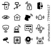 set of simple icons on a theme...   Shutterstock .eps vector #779944117