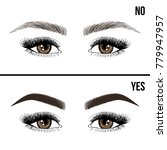 right and wrong eyebrow... | Shutterstock .eps vector #779947957