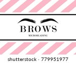 beautiful hand drawing eyebrows ... | Shutterstock .eps vector #779951977