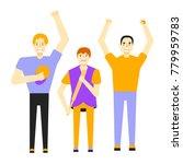 vector flat cartoon company of... | Shutterstock .eps vector #779959783