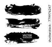 big textured brush strokes... | Shutterstock .eps vector #779976247