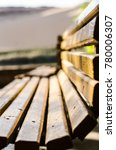 park wooden bench.  outdoor...   Shutterstock . vector #780006307