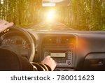 man driving a car rides along...   Shutterstock . vector #780011623