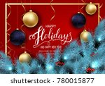 holidays greeting card for... | Shutterstock .eps vector #780015877