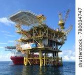 offshore satellite platform and ... | Shutterstock . vector #780034747