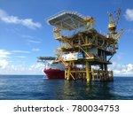 offshore satellite platform and ... | Shutterstock . vector #780034753