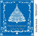 paper applique for new year... | Shutterstock .eps vector #780041047