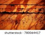 metal paint texture and... | Shutterstock . vector #780064417
