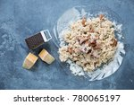 plate of risotto with... | Shutterstock . vector #780065197