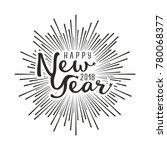 happy 2018 new year. vector... | Shutterstock .eps vector #780068377