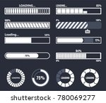 loading bar progress | Shutterstock .eps vector #780069277