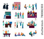 university person collection... | Shutterstock . vector #780082303
