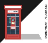 english telephone booth | Shutterstock .eps vector #780086533