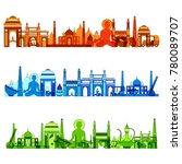 vector illustration of famous... | Shutterstock .eps vector #780089707